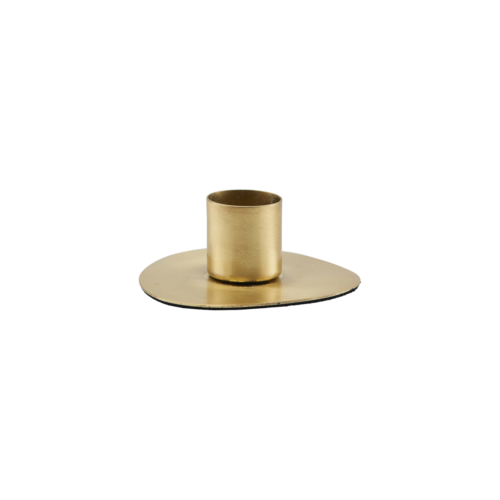 House Doctor - Candle stand, Circle, Brass finish, 7 cm