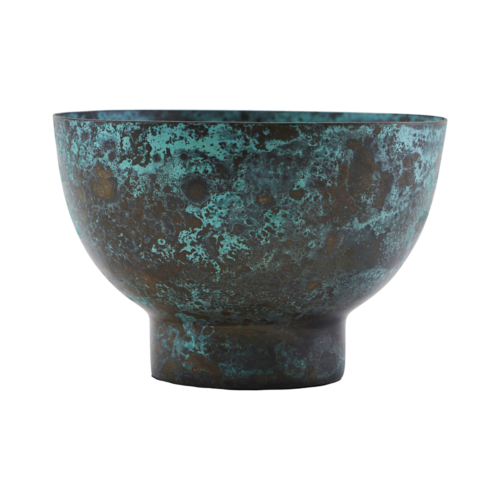 House Doctor - Candle stand, Kesi, Turquoise, dia: 10 7 cm