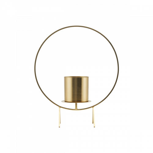 House Doctor - Candle stand, Circle, Brass finish, 40 cm, h: 48 cm