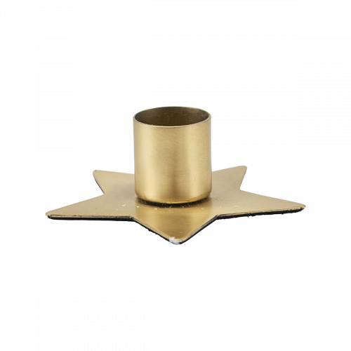 House Doctor - Candle stand, Star, Brass finish, dia: 7,5 cm