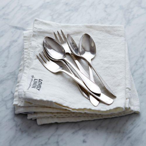Lovely Linen - Lovely Linen Servett 45/45 Off White 4 St.