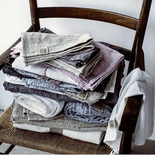 Lovely Linen - Lovely Linnen Servetter 45/45 Dusty Blue