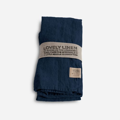 Lovely Linen - Napkin 45x45 Midnight blue 4-pack