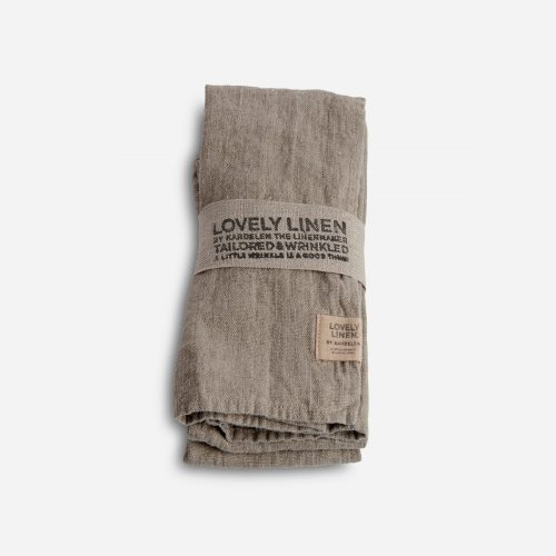 Lovely Linen - Servett Lovely Natural Beige 45x45 4-pack