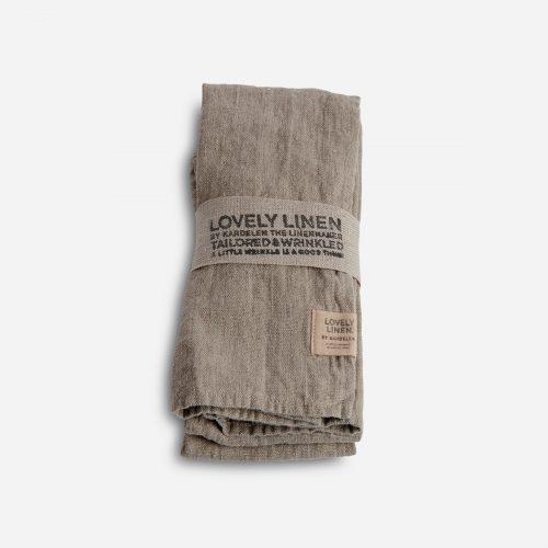Lovely Linen - Servett Lovely Natural Beige 45x45 4-pack