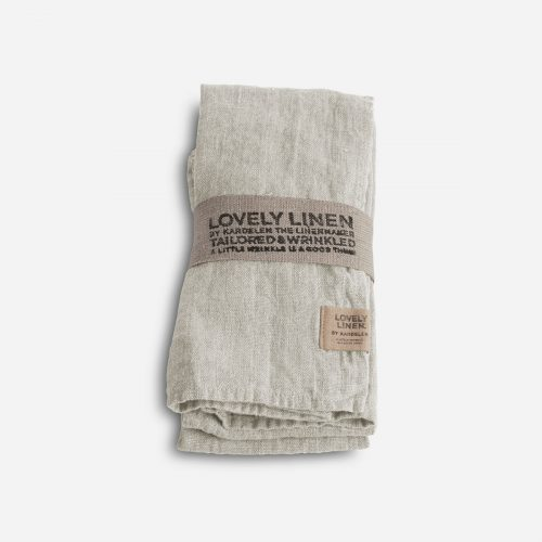 Lovely Linen - Servett Lovely Light Grey 45x45 4-pack