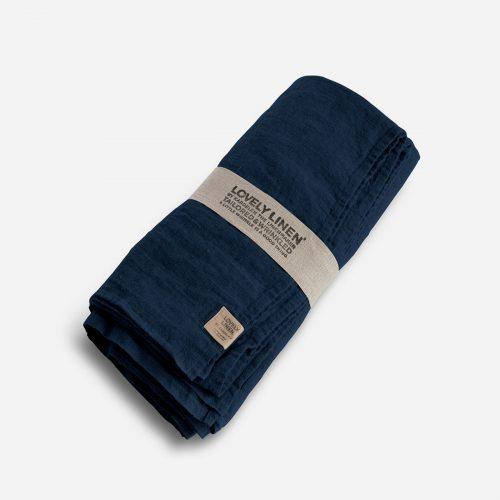 Lovely Linen - Tablecloth 145x300 midnight blue