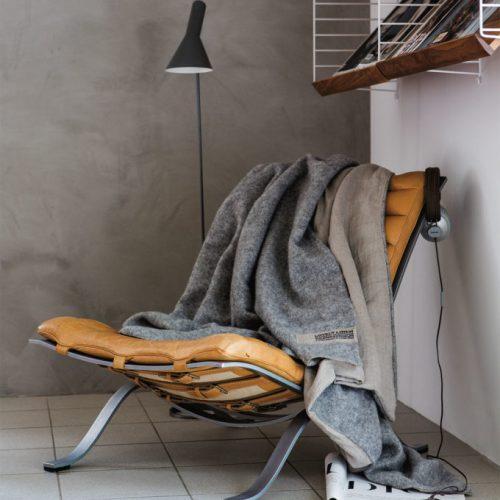 Lovely Linen - Grå / Natural Wool Pläd 140x220