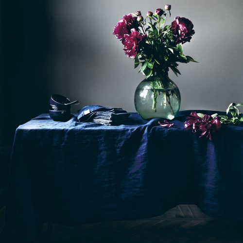 Lovely Linen - Tablecloth 145x300 midnight blue
