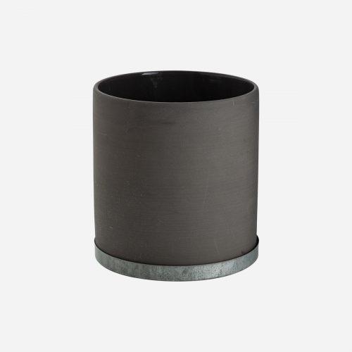 Ernst - Kruka med zinkfat, mellan - grå