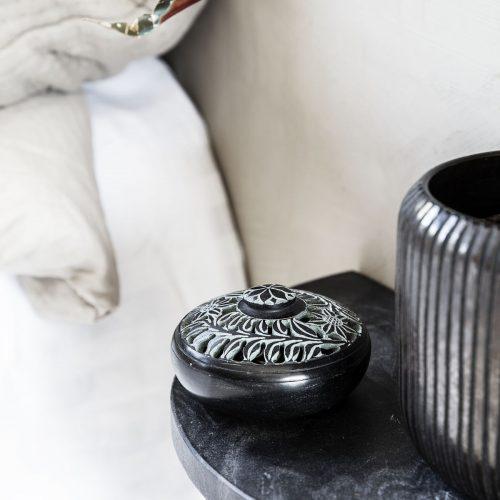 House Doctor - Förvaringsburk med lock Puri - svart