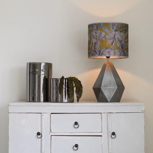 PR Home - Trinity Lampfot Matt Silver 39cm