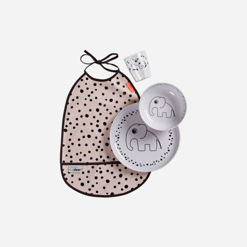Done By Deer - Dinner set, Happy dots, powder