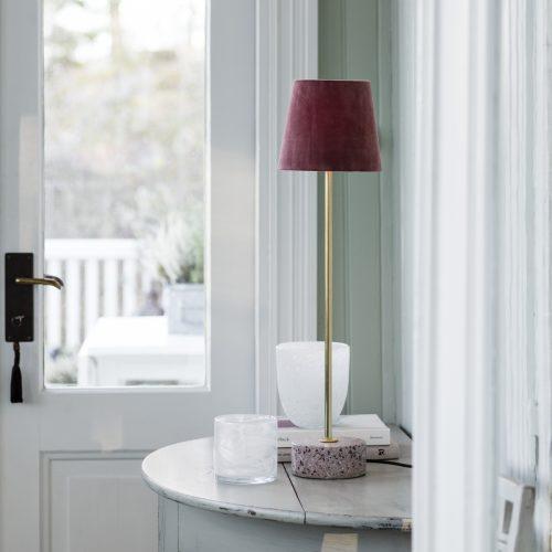 PR Home - Terazzo Lampfot Rosa 57cm