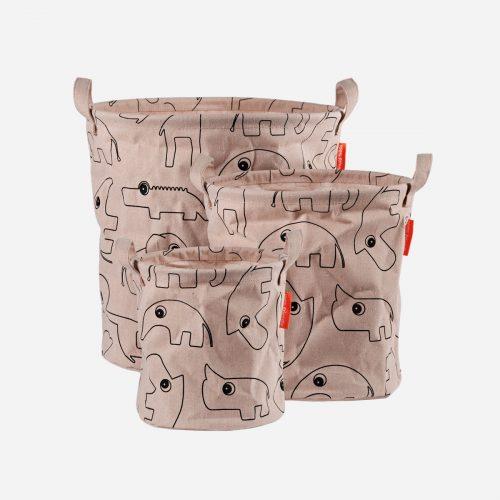 Done By Deer - Storage baskets, Contour, 3 pcs, powder