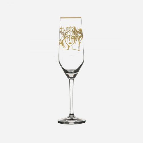 Gynning Design - Slice of Life, Champagneglas - Gold