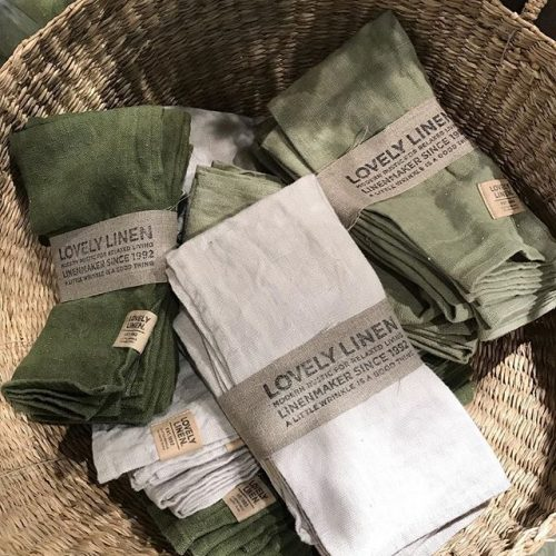 Lovely Linen - Servett Lovely Avocado 45x45 4-pack