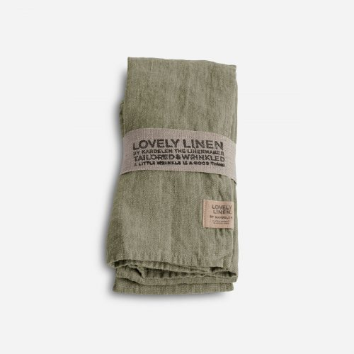 Lovely Linen - Servett Lovely Avocado 45x45 4-pack