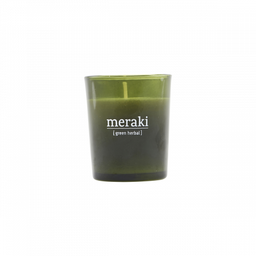 Meraki - Scented candle, Green herbal