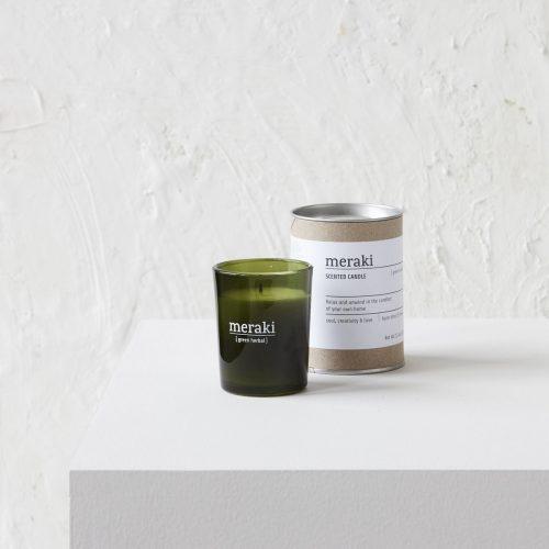 Meraki - Scented candle, Green herbal