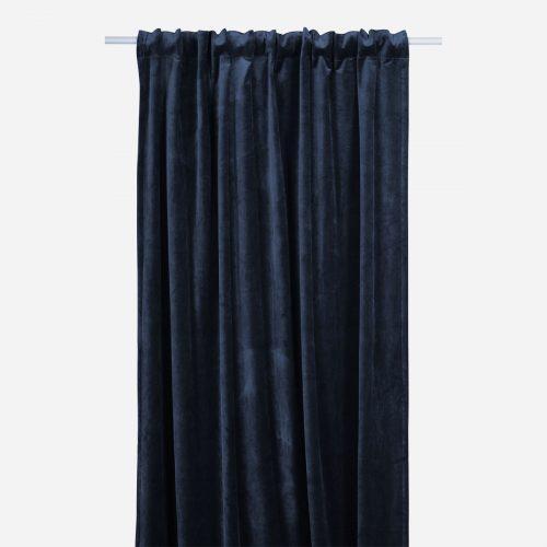 Mogihome - Gardinlängd Sammet - mörkblå