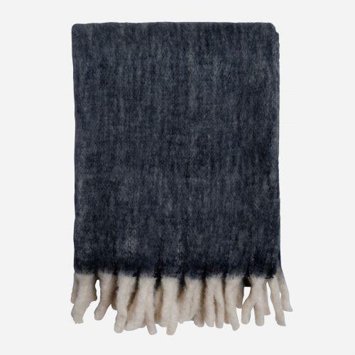Mogihome - Pläd Morgan mörkblå 130x170