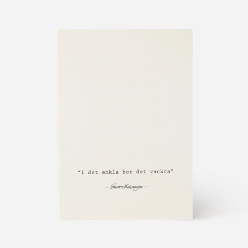 """Ernst - Servett 33x33 """"I det enkla"""" beige"""