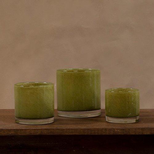 Olsson & Jensen - Nilla ljuskopp olivgrön 8 cm