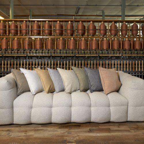 Mogihome - Kendall soffa, Beige bouclé